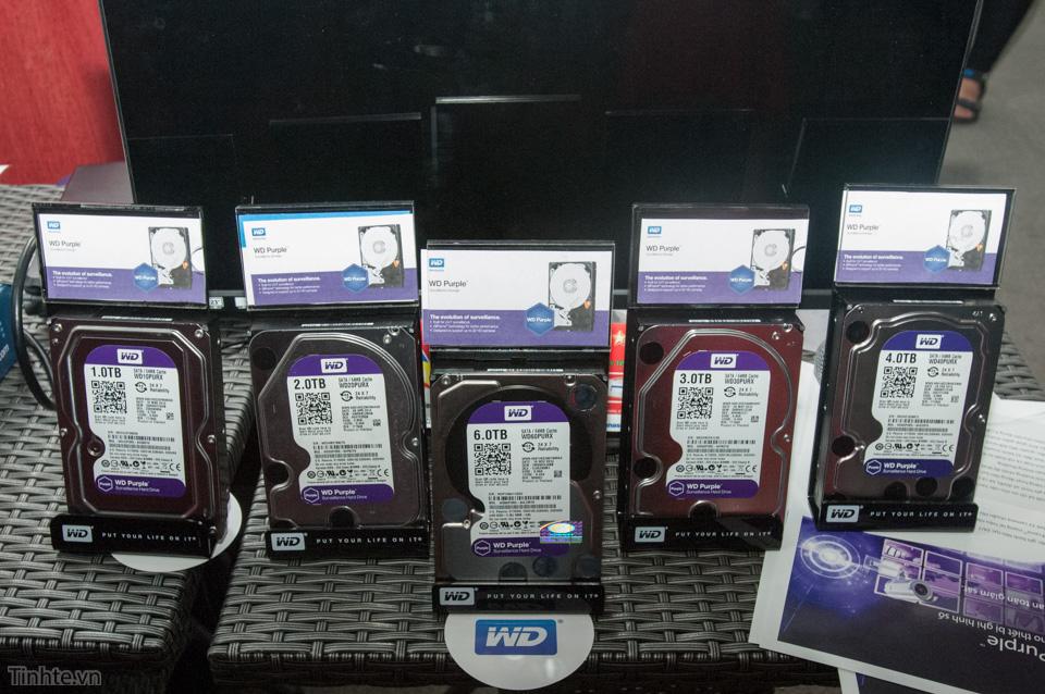 Dòng Purple của WD với các mức dung lượng từ 1 đến 6 TB.